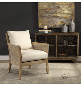 UTTERMOST Encore natural armchair 23461