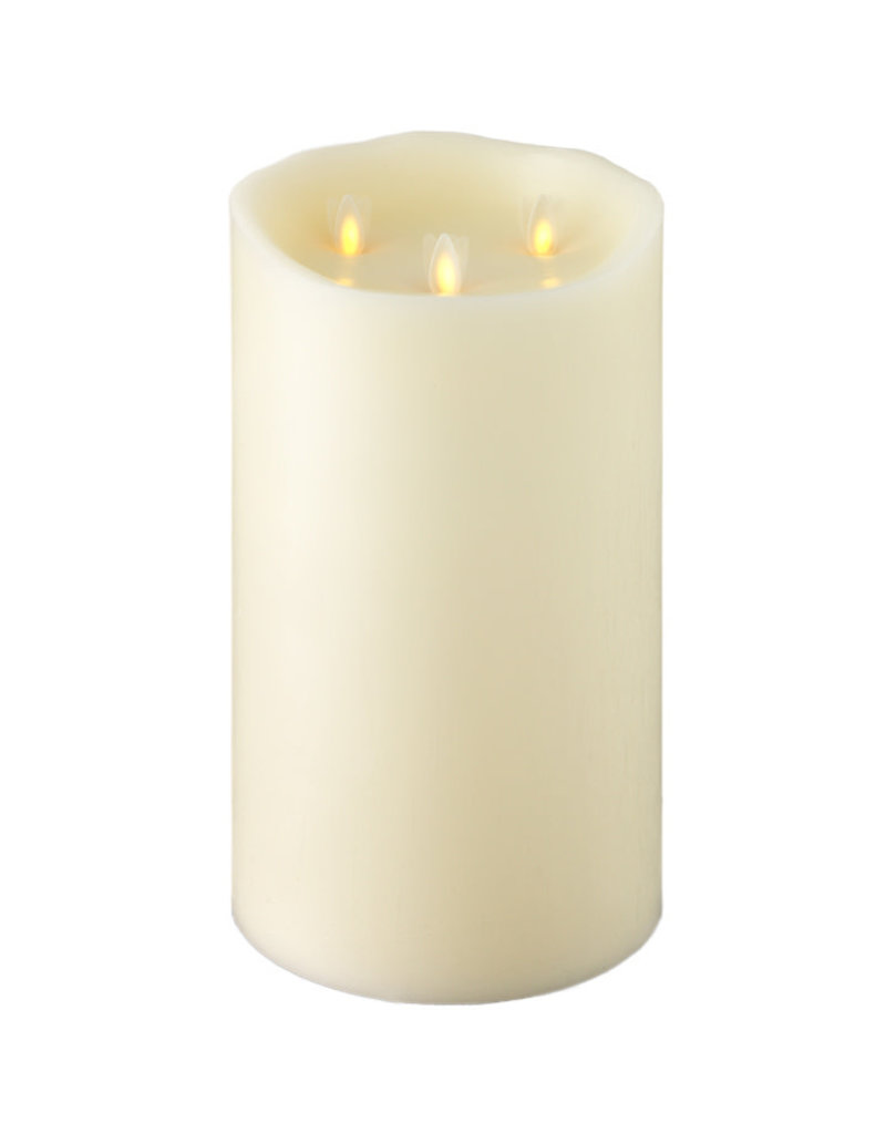 "Pillar Candle Ivory 10""x6"" 18017"