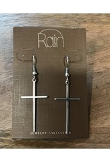 Silver Arrow Cross Earrings E1855S