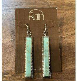Turquoise Stone Bar Earring E1646TQ