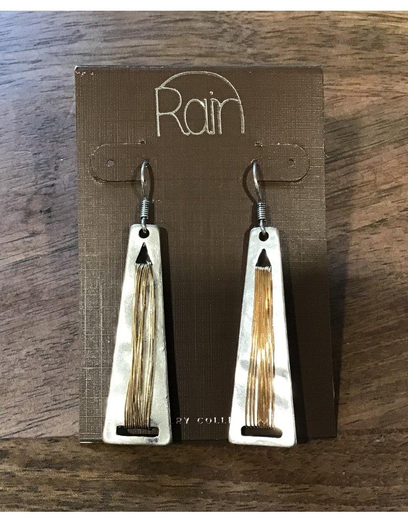 Silver Bar Gold Accent Earring E1304S