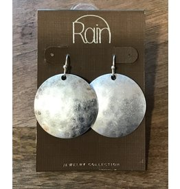 Silver Domed Circle Earring E1806S