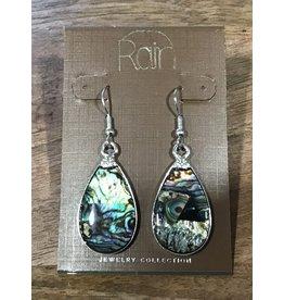 Silver Abalone Earring