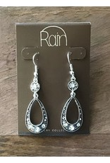 Silver Crystal Open Oval Earring AE13987SCL