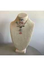 Multi Crystal Flower Necklace & Earring Set N1653M