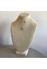 Gold wire Wrap Arc Necklace & Earring Set N1349TT