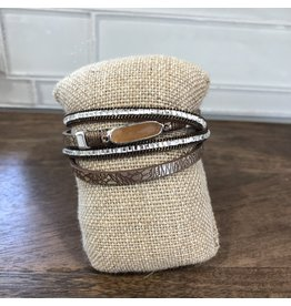 Natural Brown Wrap Magnetic Bracelet MB93