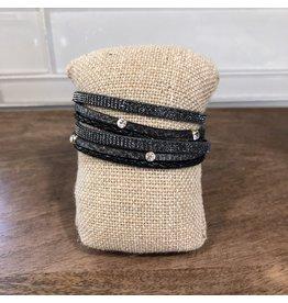 Gold Black Magnetic Wrap Bracelet MB137