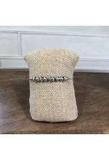 Silver Rondell Beads Slider Bracelet B1591S