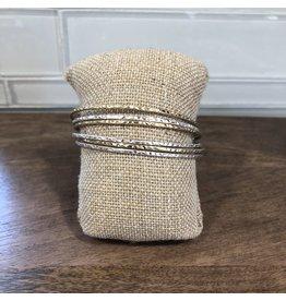 Two Tone Bangle Bracelet B1301TT