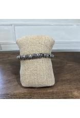 Silver Filigree Beads Stretch Bracelet B1401S