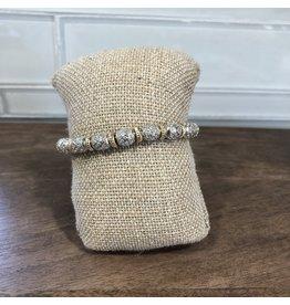 Gold Filigree Beads Stretch Bracelet B1401G