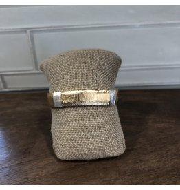 Two Tone Wire Wrap Hinge Bracelet B1602TT