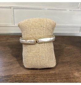 Silver Deckle Edge Hinge Bracelet B1801S