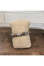 Multi Engraved Inspirational Bead Stretch Bracelet B1565M