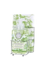 Bunny toile foaming soap napkin set