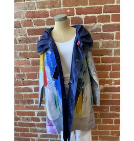 none REVERSABLE BUTTON FRONT JACKET ARTISTS PRINT
