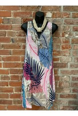 Hawaiin  print zipper tank dress d647v707
