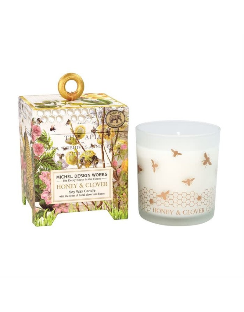 Honey clover 6.5 soy candle