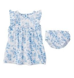 Muslin Blue Floral (3-6M) 1500020-06