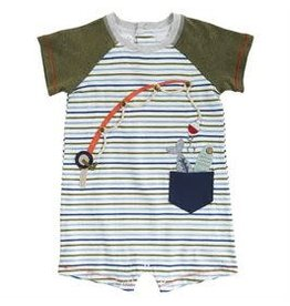 Gone Fishing Romper (3-6M) 11030114-06