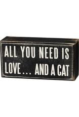 Love & a cat box sign 16348