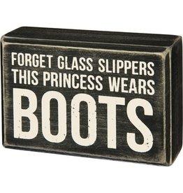 Princess boots box sign 31186