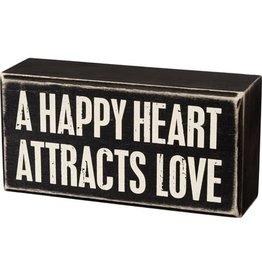 Heart attracks love box sign 105473