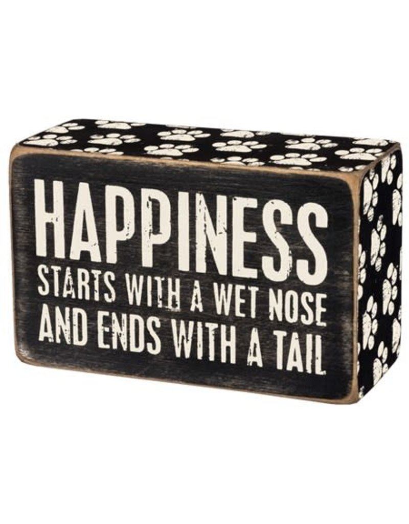 31145 BOX SIGN - HAPPINESS STARTS