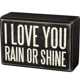 Rain or shine box sign 35173