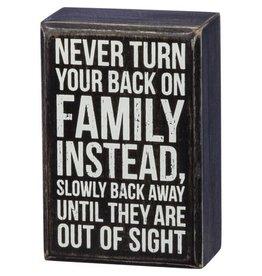 Back away box sign 37614
