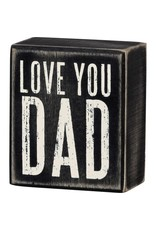 Love you dad box sign 21748