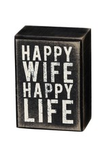 Happy wife box sign 21749