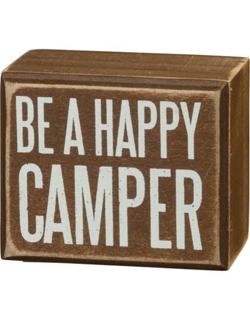 Happy camper box sign 27372