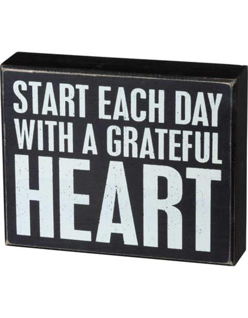 Gratefull heart box sign 105380