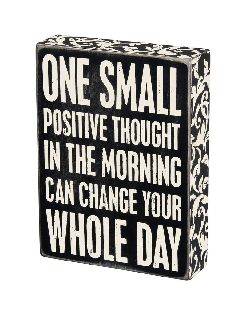Positive thought box sign 22675