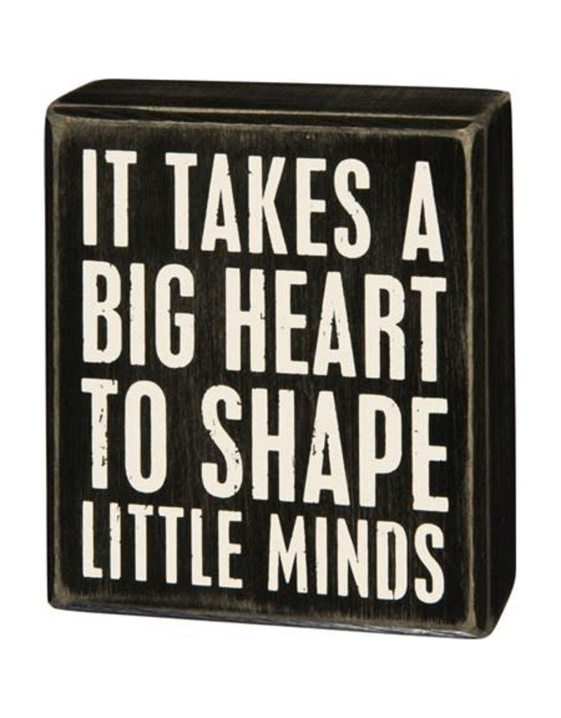 Big heart box sign 31175