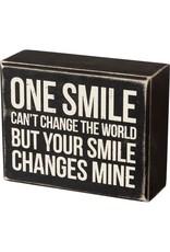 Change the world box sign 105464