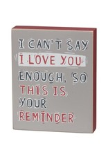 I love you block sign 105411