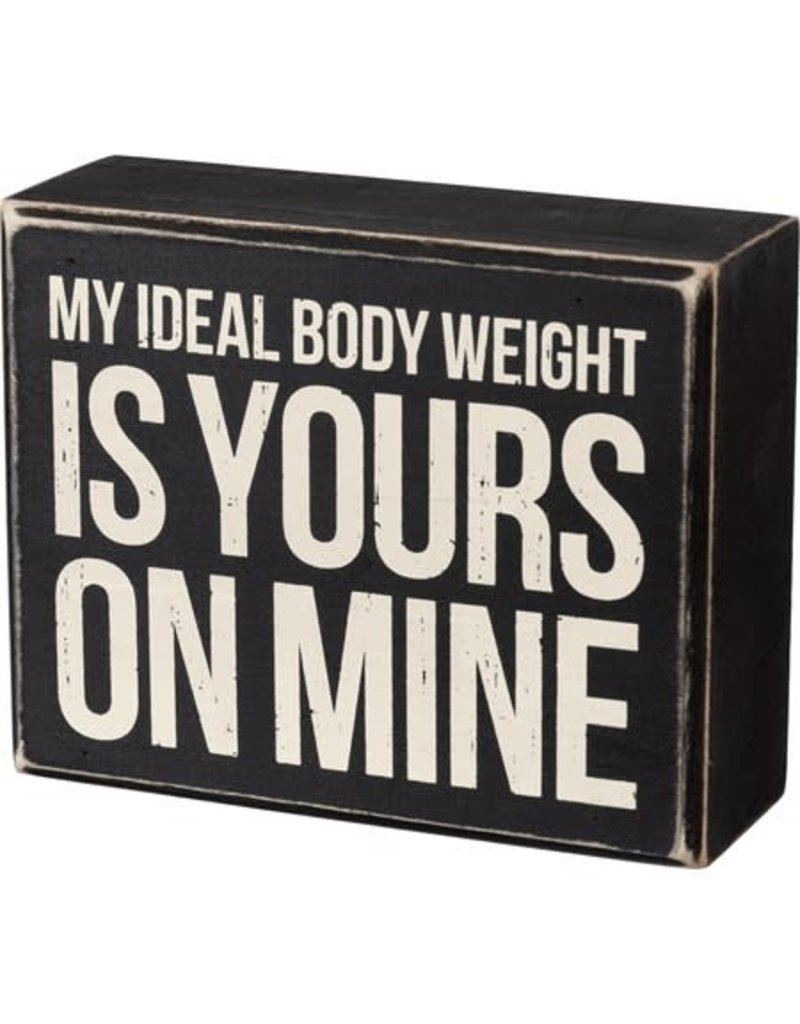 Ideal body weight box sign 105470