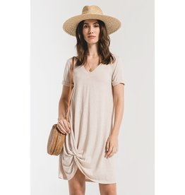 Oatmeal side knot dress
