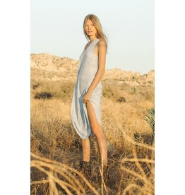 Cloud light blue tie dye dress