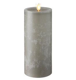"Pillar Candle Chalky Grey 3.5""x 9"" 36069"