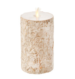 """Pillar Candle Birch Wrapped 4""""x7"""" 37106"""