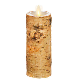 """Pillar Candle Birch Wrapped 2""""x6"""" 39113"""
