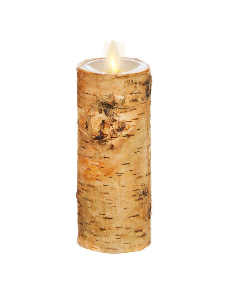 "Pillar Candle Birch Wrapped 2""x6"" 39113"