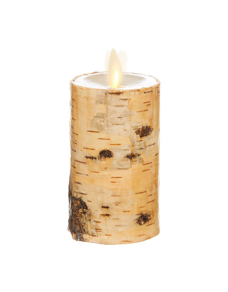 """Pillar Candle Birch Wrapped 2""""x4"""" 39112"""