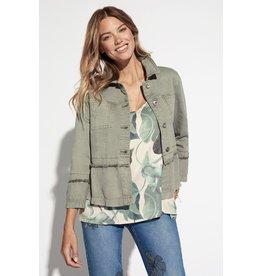 Tribal 3/4 Bell-sleeve olive jacket 63430