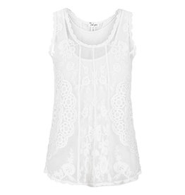Tribal White Embroidered swing tank Large 65110
