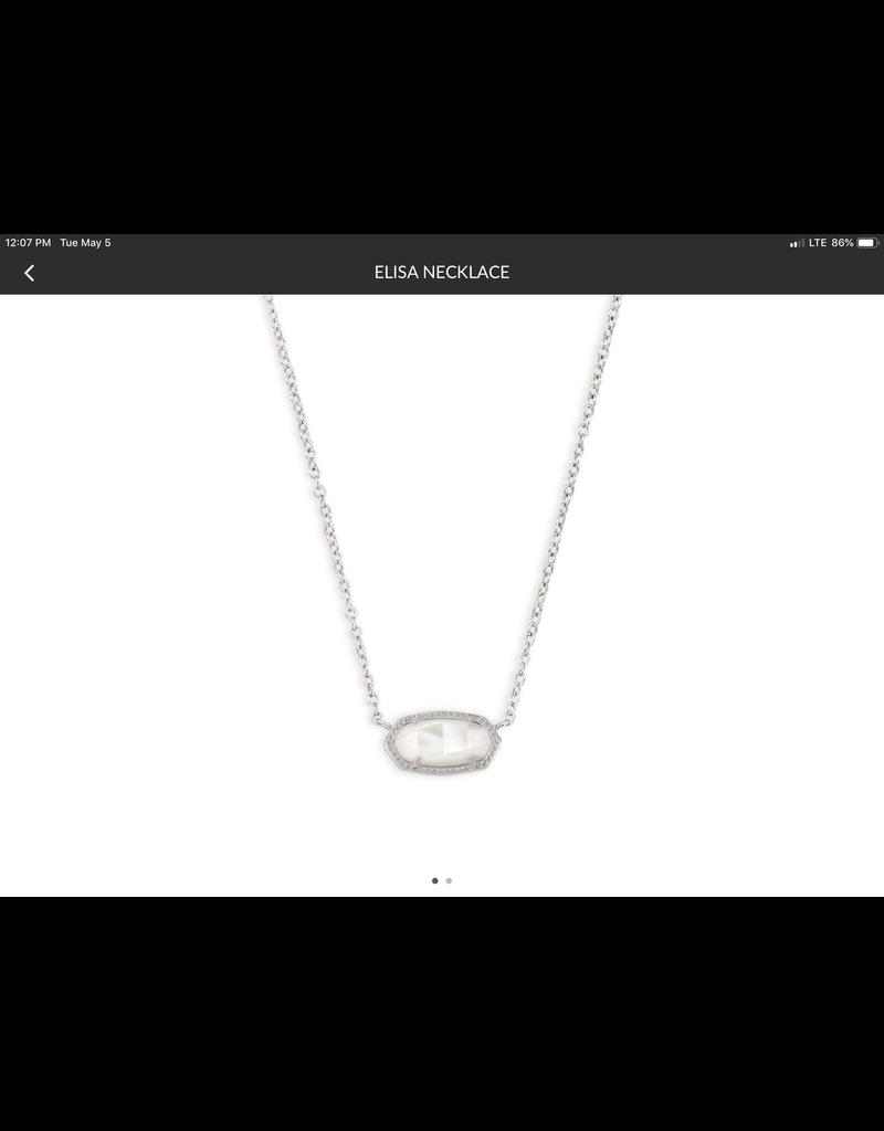 "KENDRA SCOTT Elisa silver Pendant Necklace 15"" 4217715820"
